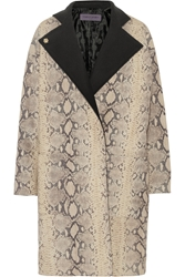 Ungaro Snake Effect Leather Coat