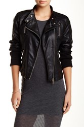 Ontwelfth Vegan Faux Leather Moto Jacket