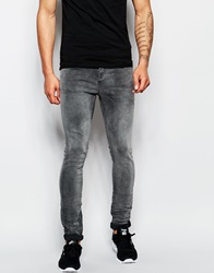 Selected Homme Washed Grey Jeans In Skinny Fit Washedgrey