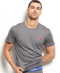 Under Armour Men's Athletic Flyweight Performance Short Sleeve Crew Neck T Shirt Graphite