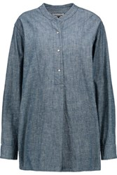Etoile Isabel Marant Stacy Cotton Chambray Shirt Blue