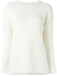 Vanessa Bruno Atha Ribbed Collar Sweater Nude And Neutrals