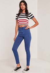 Missguided Blue Rebel Supersoft Superstretch Skinny Jeans