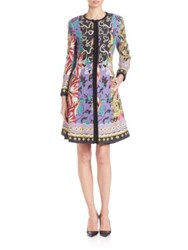 Etro Printed A Line Jacket Green