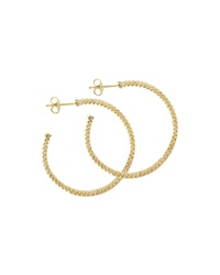 18K Gold Caviar Beaded Hoop Earrings 35Mm Lagos