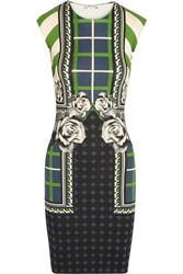 Emma Cook Abbie Printed Stretch Jersey Dress Green