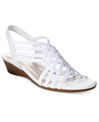 Impo Refresh Stretch Wedge Sandals Women's Shoes White