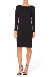 Catherine Malandrino Women's Lace Inset Stretch Knit Sheath Dress