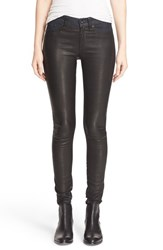 Rag And Bone Women's Jean 'Hyde' Leather Panel Skinny Jeans
