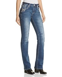 Grace In La Embroidered Flap Pocket Jeans Dark Blue Compare At 89