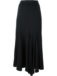 Y 3 High Rise Frilled Skirt Black