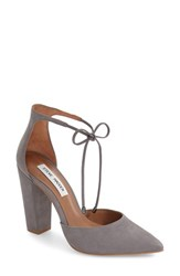 Steve Madden Women's 'Pamperd' Lace Up Pump Grey Nubuck