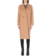 The Kooples Double Faced Wool Coat Camel
