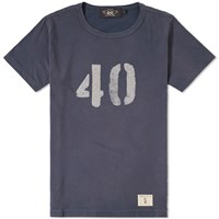 Rrl Graphic Tee Blue