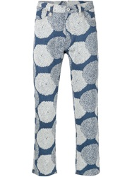 Junya Watanabe Comme Des Garcons Man Patterned Leather Pocket Trousers Blue