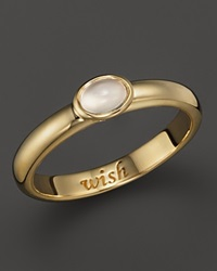 Monica Rich Kosann 18K Yellow Gold Wish Posey Ring With Moonstone Gold White