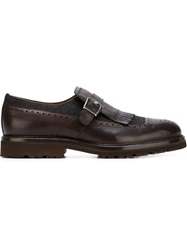 Brunello Cucinelli Buckled Brogue Shoes Brown