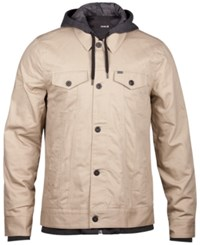 Hurley Men's Trucker 2.0 Jacket Khaki