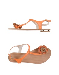 Supertrash Thong Sandals Orange