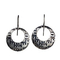 House Of Alaia Navajo Dream Earrings Oxidized Sterling Silver