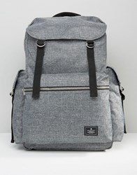 Asos Backpack With Multi Pocket Grey