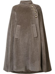 By. Bonnie Young Cape Coat Grey