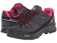 Salomon X Alp Ltr Gtx Asphalt Bordeaux Hot Pink Women's Shoes Black