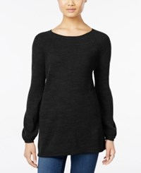 Styleandco. Style Co. Petite Boat Neck Swing Sweater Only At Macy's Deep Black