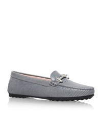 Tod's Gomma T Bar Loafers Female Grey