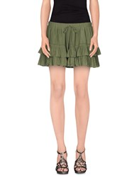 Elizabeth And James Skirts Mini Skirts Women Military Green