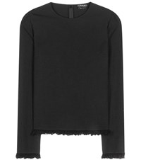 Tom Ford Wool And Cotton Top Black
