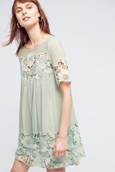 Anthropologie Magnolia Lace Dress Mint