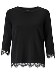 Alice By Temperley Somerset Lace Knit Jumper Black