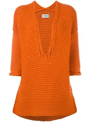 Humanoid 'Caras' Jumper Yellow And Orange