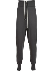 Rick Owens Tapered Track Pants Grey