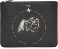 Givenchy Black Canvas Monkey Brothers Pouch