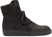 Alexandre Plokhov Black Creased High Top Sneakers
