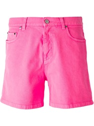 Christopher Kane Denim Shorts Pink And Purple