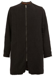 By Walid Zip Up Coat Black