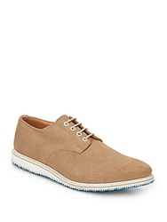 Walk Over Suede Lace Up Oxfords Tan
