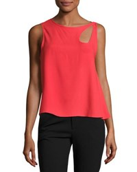 Opening Ceremony Sleeveless Cutout Loose Top Cherry