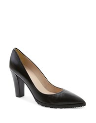 Andre Assous Sandy Leather Point Toe Pumps Black