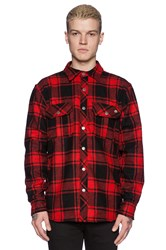 Ever Chuy Flannel Shirt Jacket Red