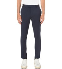 Tiger Of Sweden Gordon Slim Fit Wool Trousers Navy