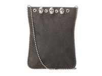 Leather Rock Cell Pouch Crossbody Flake Black Grey Skulls Bags Gray
