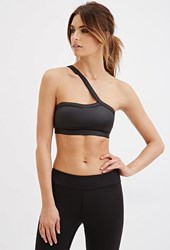 Forever 21 Low Impact One Shoulder Sports Bra Black
