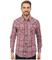 Rock And Roll Cowboy Long Sleeve Snap B2s7283 Red Men's Long Sleeve Button Up