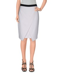 Byblos Skirts Knee Length Skirts Women White
