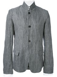 Lost And Found Ria Dunn High Neck Button Down Jacket Grey