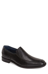Rush By Gordon Rush Leather Venetian Loafer Men Black